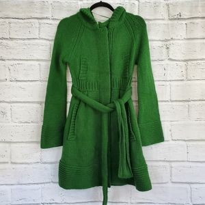 Free people button up hooded long cardigan sweater
